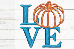 Pumpkin Love Thanksgiving Embroidery Design By embroidstock
