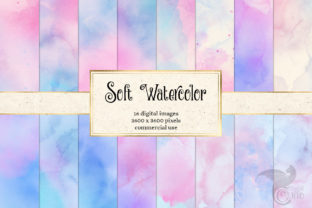 Print on Demand: Soft Watercolor Textures Graphic Textures By Digital Curio