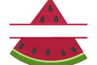 Split Watermelon Frame Food & Dining Embroidery Design By Thread Treasures Embroidery