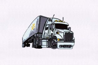 White Tractor Vehicle Transportation Embroidery Design By StitchersCorp