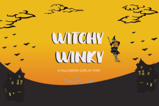 Print on Demand: Witchy Winky Display Font By Damn Studio 1