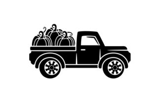 Farmhouse Truck Filled with Pumpkins Thanksgiving Craft Cut File By Creative Fabrica Crafts 2