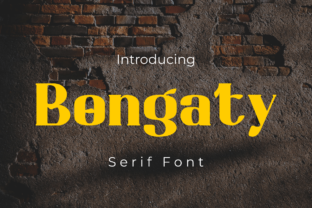Print on Demand: Bongaty Display Font By Rvandtype