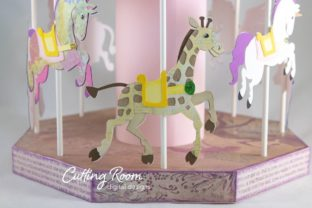 Carousel Party Graphic 3D SVG By cuttingroomdesigns 1