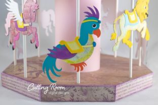Carousel Party Graphic 3D SVG By cuttingroomdesigns 10