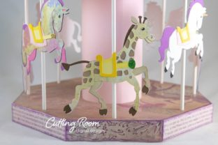 Carousel Party Graphic 3D SVG By cuttingroomdesigns 11