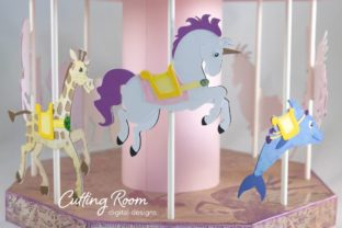 Carousel Party Graphic 3D SVG By cuttingroomdesigns 2
