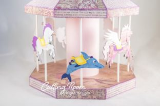 Carousel Party Graphic 3D SVG By cuttingroomdesigns 3
