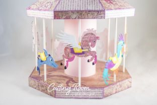 Carousel Party Graphic 3D SVG By cuttingroomdesigns 4