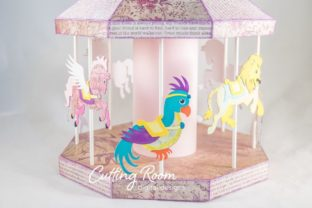 Carousel Party Graphic 3D SVG By cuttingroomdesigns 5
