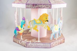 Carousel Party Graphic 3D SVG By cuttingroomdesigns 6