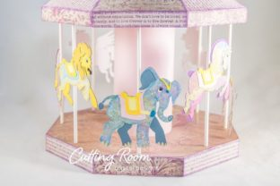 Carousel Party Graphic 3D SVG By cuttingroomdesigns 7