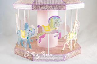 Carousel Party Graphic 3D SVG By cuttingroomdesigns 8