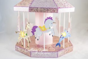 Carousel Party Graphic 3D SVG By cuttingroomdesigns 9