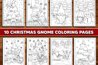 Christmas Gnome Coloring Page for Kids Graphic Coloring Pages & Books Kids By Sassyart66