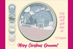 Christmas Ornament. 3d Layered Graphic 3D SVG By PerValDesigns