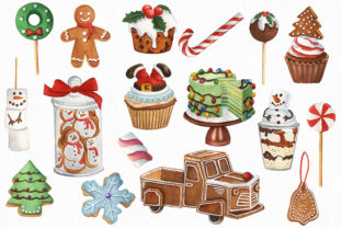 Christmas Sweets and Drinks Clipart Bundle - 2