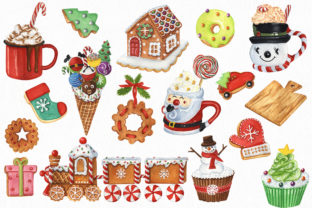 Christmas Sweets and Drinks Clipart Bundle - 3