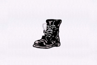 Combat Boots Shoes Clothing Embroidery Design By StitchersCorp