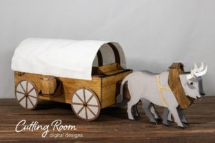 Conestoga Wagon Gift Box and Decor Graphic 3D SVG By cuttingroomdesigns