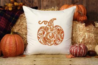 Curly Pumpkin Thanksgiving Embroidery Design By LaceArtDesigns