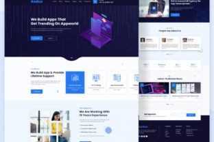 Digital Agency Landing Page Website Graphic Landing Page Templates By ordainit0