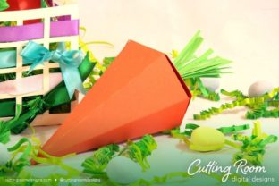 Easter/Carrots Basket Graphic 3D SVG By cuttingroomdesigns