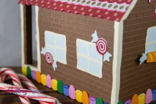 Gingerbread House Candy Cane Holder Graphic 3D SVG By cuttingroomdesigns 7
