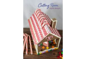 Gingerbread House Candy Cane Holder Graphic 3D SVG By cuttingroomdesigns 8