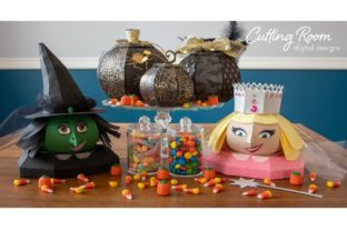 Good and Bad Witches Graphic 3D SVG By cuttingroomdesigns