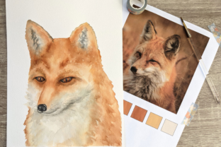 How to Paint a Watercolor Red Fox Classes By lashtonart