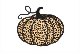 Leopard Pumpkin Applique Autumn Embroidery Design By NinoEmbroidery