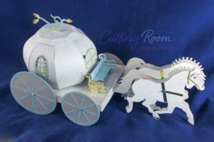 Magic Carriage Graphic 3D SVG By cuttingroomdesigns 3