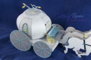 Magic Carriage Graphic 3D SVG By cuttingroomdesigns 4