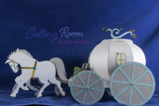 Magic Carriage Graphic 3D SVG By cuttingroomdesigns 5