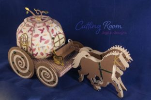 Magic Carriage Graphic 3D SVG By cuttingroomdesigns 6
