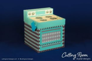 Oven Box Graphic 3D SVG By cuttingroomdesigns
