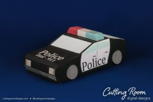 Police Car Box Graphic 3D SVG By cuttingroomdesigns