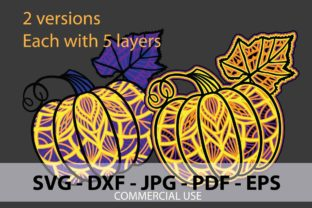 Pumpkin 3D Papercut Design Graphic 3D Shapes By Paper Ink And Knife