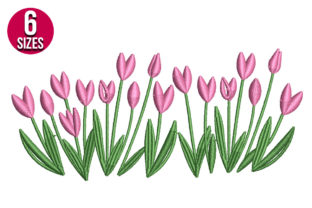 Print on Demand: Tulip Flowers Floral & Garden Embroidery Design By Nations Embroidery
