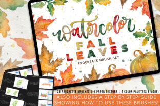Watercolor Fall Leaves Brush Set Graphic Brushes By byshannonlayne