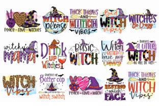 Witch Sublimation Bundle Graphic Crafts By CraftlabSVG 2