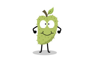 Soursop Fruit Character Illustration Graphic Illustrations By Role Graphic