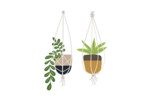 Hanging Plants Designs & Drawings Craft Cut File By Creative Fabrica Crafts 1