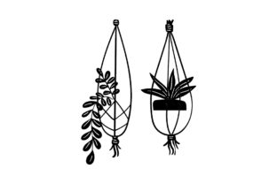 Hanging Plants Designs & Drawings Craft Cut File By Creative Fabrica Crafts 2