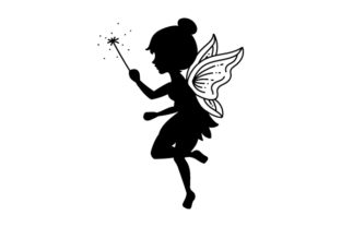Fairy Silhouette Designs & Drawings Craft Cut File By Creative Fabrica Crafts 2