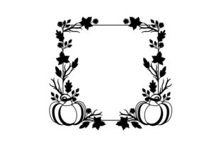 Pumpkin and Fall Leaves Border Fall Craft Cut File By Creative Fabrica Crafts