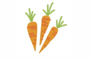 Carrots Easter Embroidery Design By LizaEmbroidery