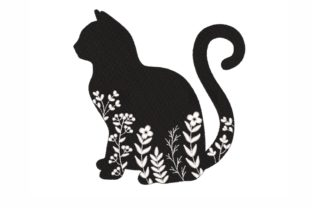 Floral Cat Cats Embroidery Design By LizaEmbroidery