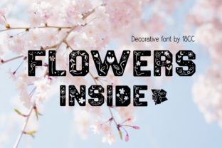 Print on Demand: Flowers Inside Decorative Font By 18CC